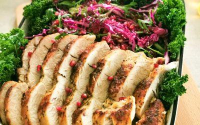 Roast Turkey with Sauerkraut